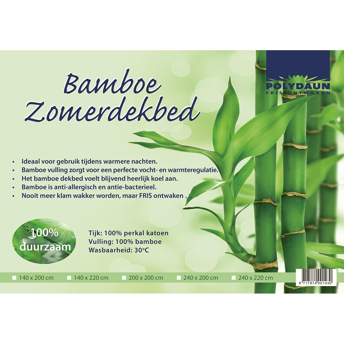 Polydaun bamboe zomerdekbed